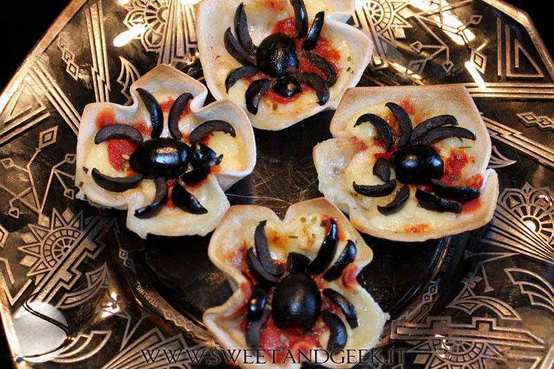 Antipasti halloween  Tartine ragno