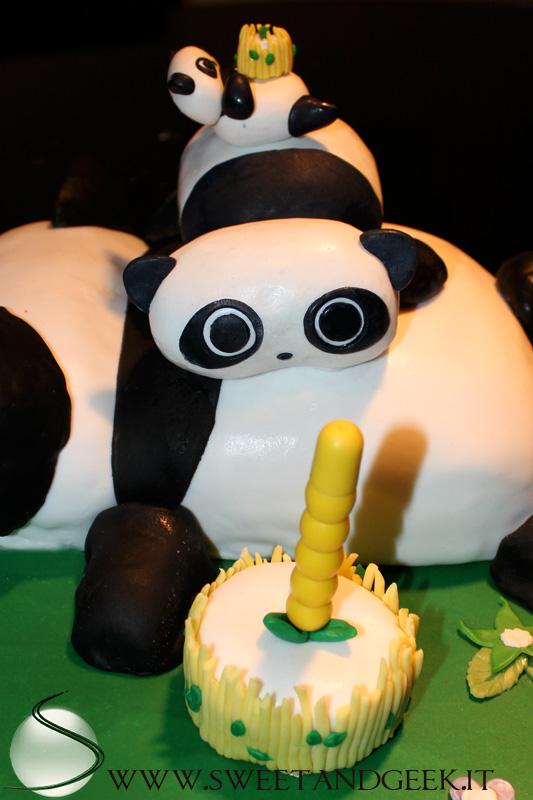 tarepanda cake con candela
