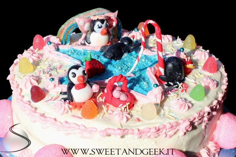 penguin-candyland-cake