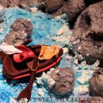 Torta neverland - roccia del teschio e tesoro dei pirati