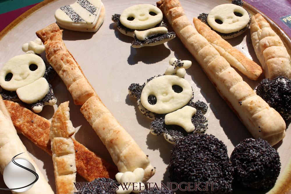 Panda-Antipasto papavero e parmigiano - panda-appetizer