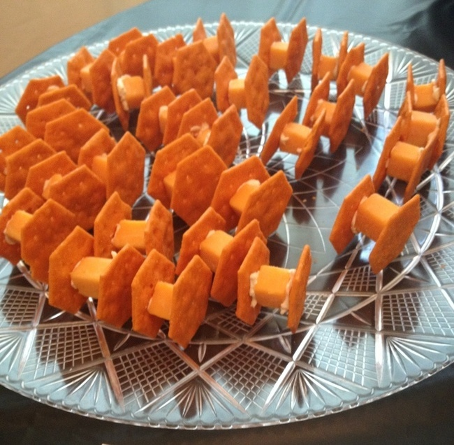 snack tie fighter cheese