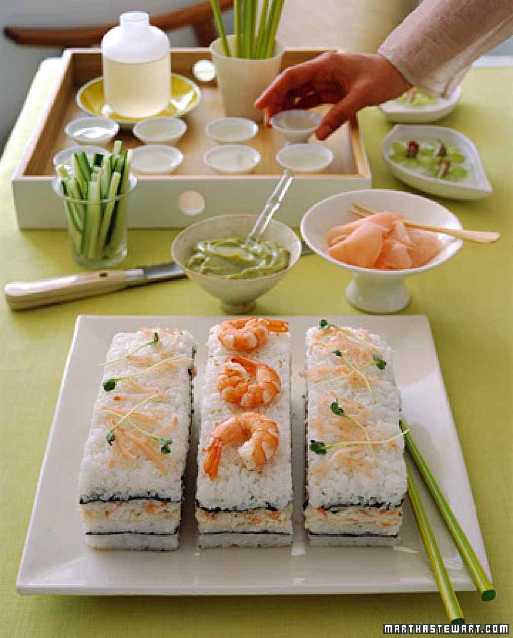 antipasto di sushi cake
