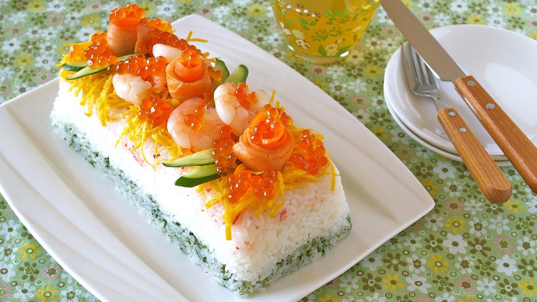 hinamatsuri sushi cake