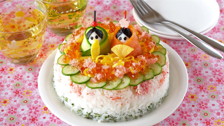 real sushi cake - girl festival