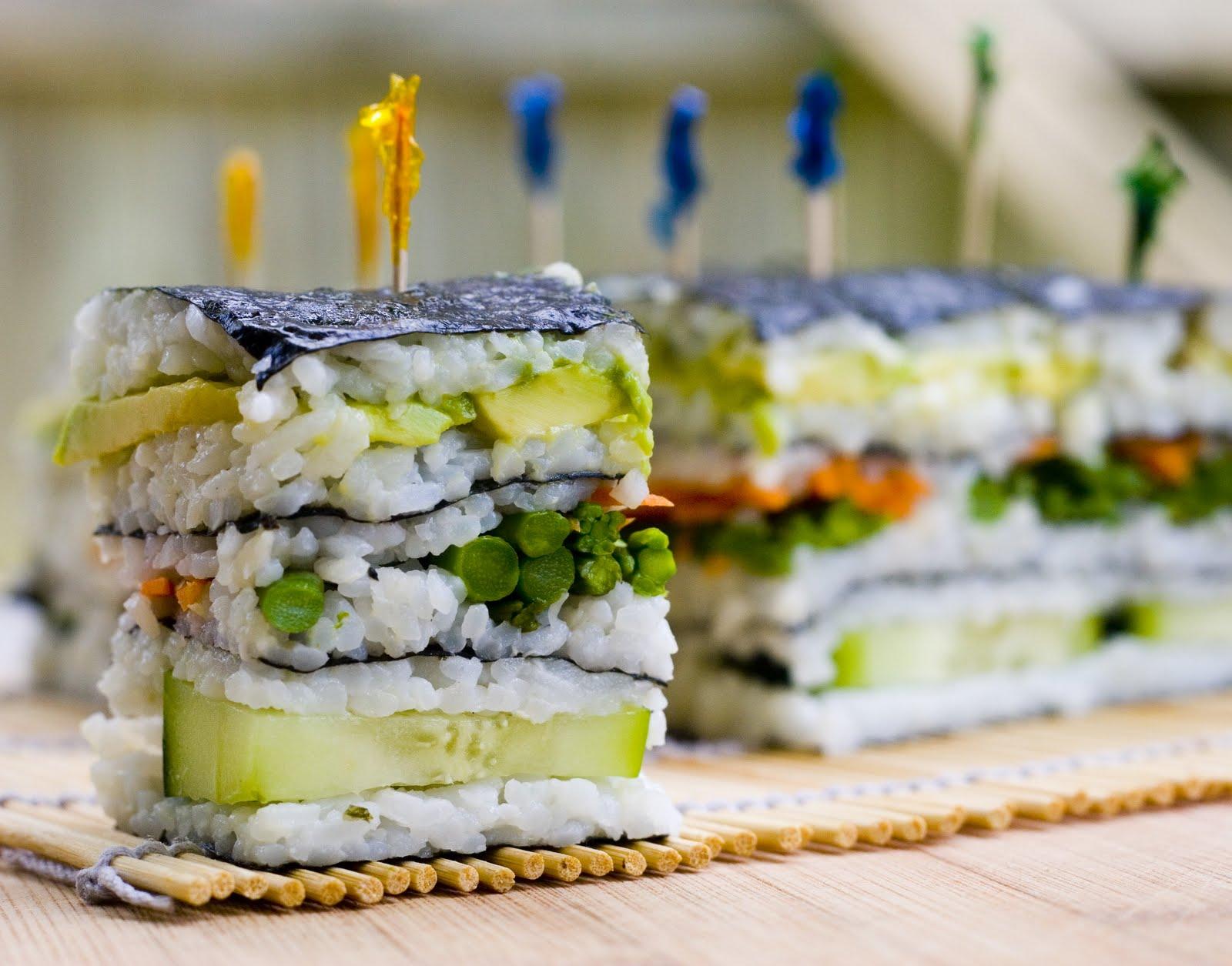 sushi cake napolean